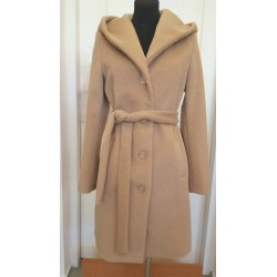 Płaszcz jesienny z kapturem